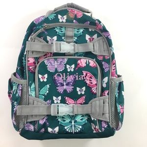 Pottery Barn Kids Small Butterfly Blue Backpack